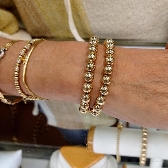 8mm beaded GF stretch bracelets